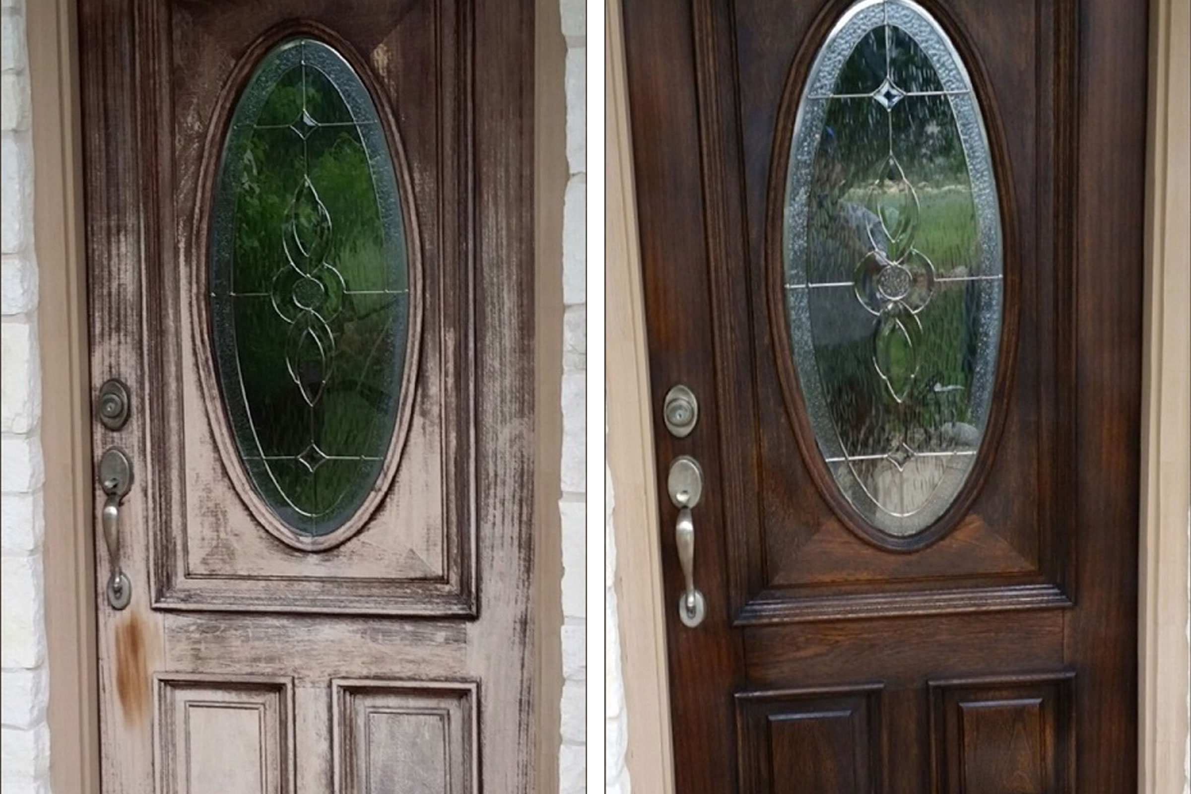 LIBERTY HILL (BEFORE | AFTER) & Austin Door Refinishing